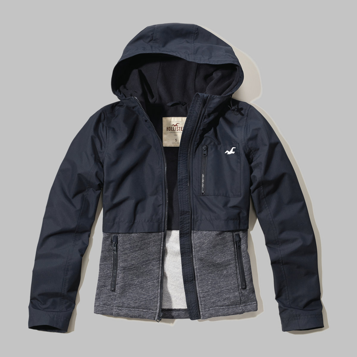 Fleece Mixed Nylon Jacket