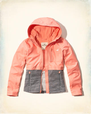 Fleece Mixed Nylon Jacket