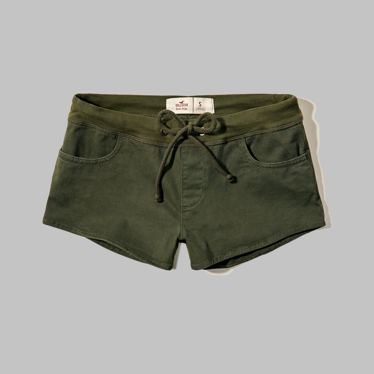 Low Rise Twill Shorts