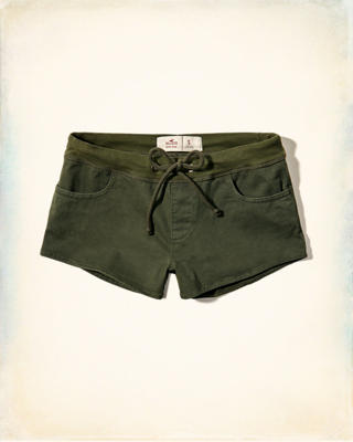 Low-Rise Twill Shorts
