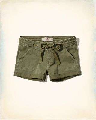 Low-Rise Military Twill Shorts