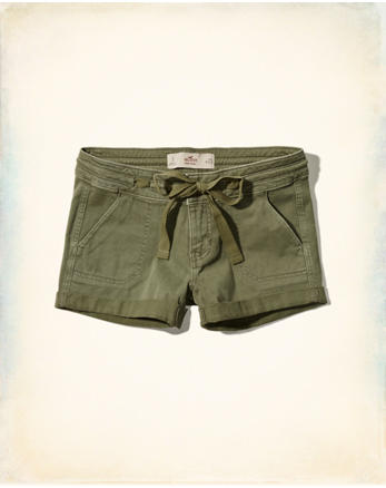 hol Low-Rise Military Twill Shorts