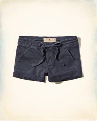 Low Rise Military Twill Shorts