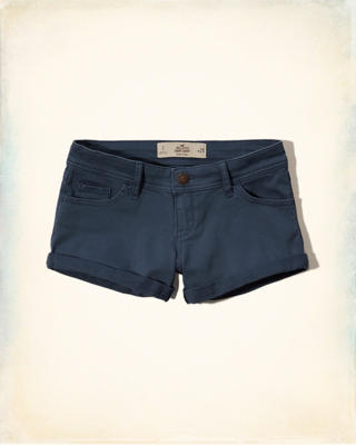 Low Rise Twill Short-Shorts