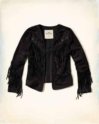 No-Close Faux Suede Jacket