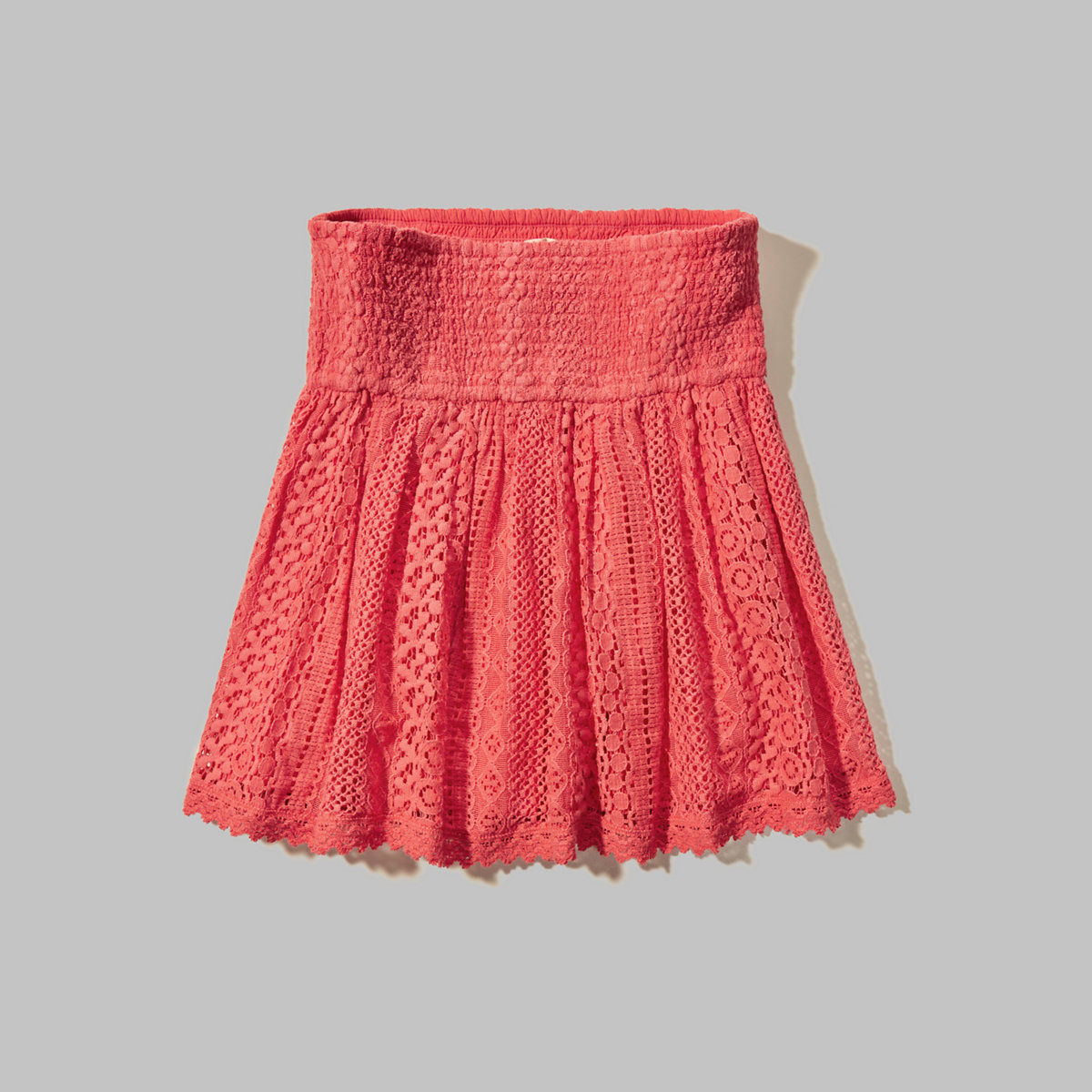 Smocked Lace Skirt