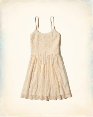 Smocked Top Skater Dress