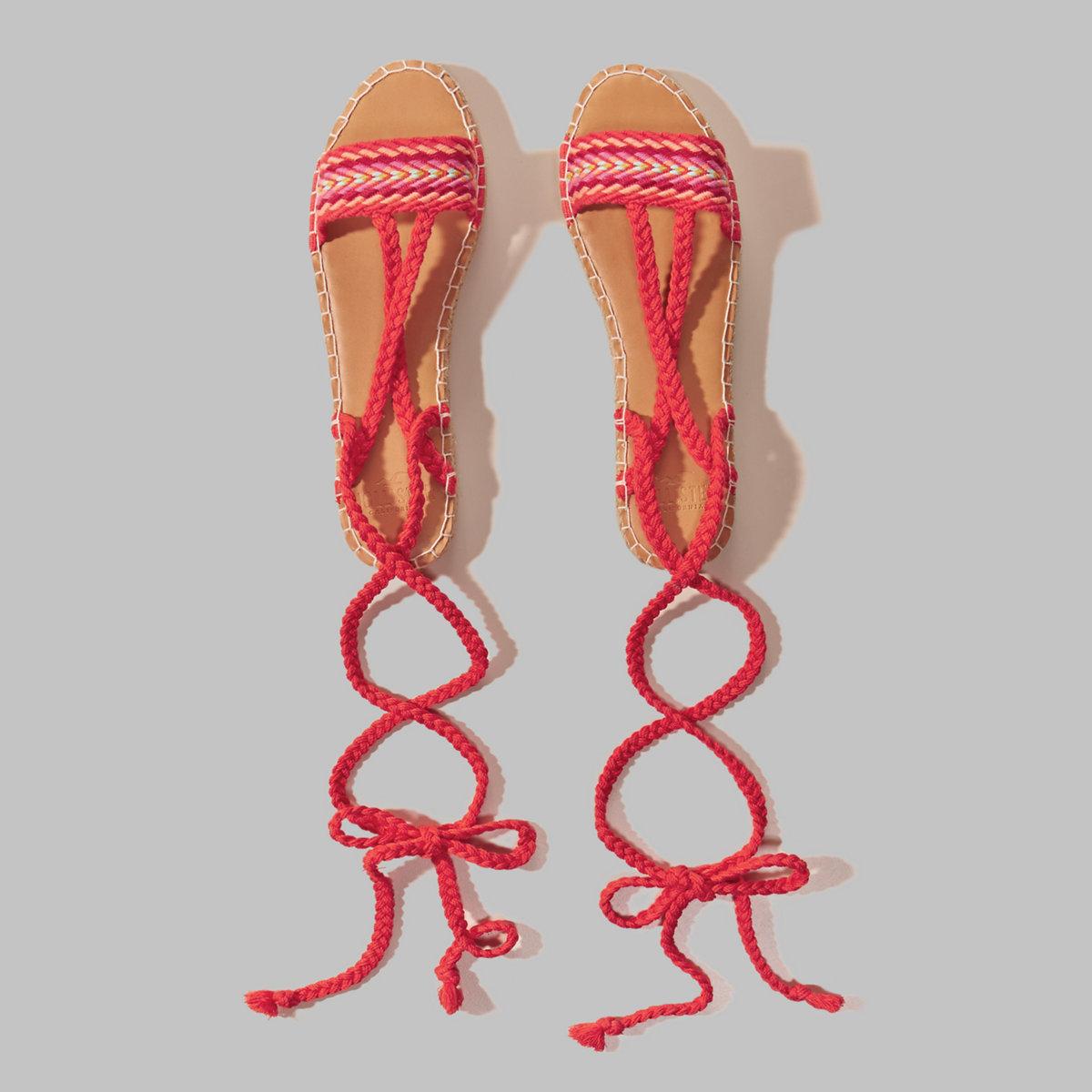 Braided Espadrille Sandals