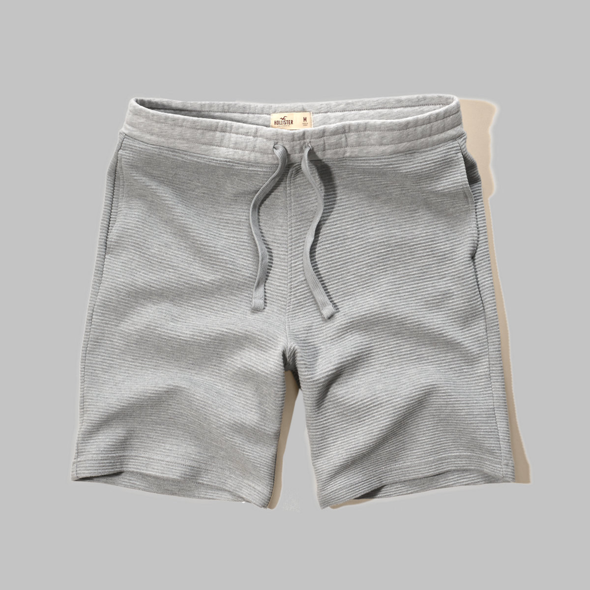 Ribbed Fleece Jogger Shorts