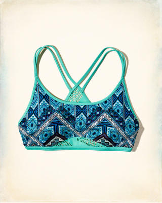 Hollister Cali Sport Strappy Mesh Sports Bra