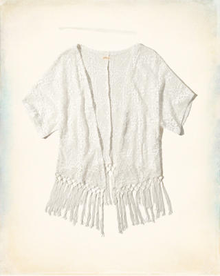 Lace Open Blouse