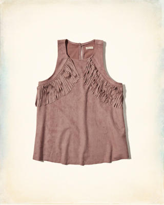 Faux Suede Easy Tank