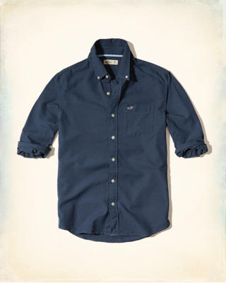 Long-Sleeve Oxford Shirt