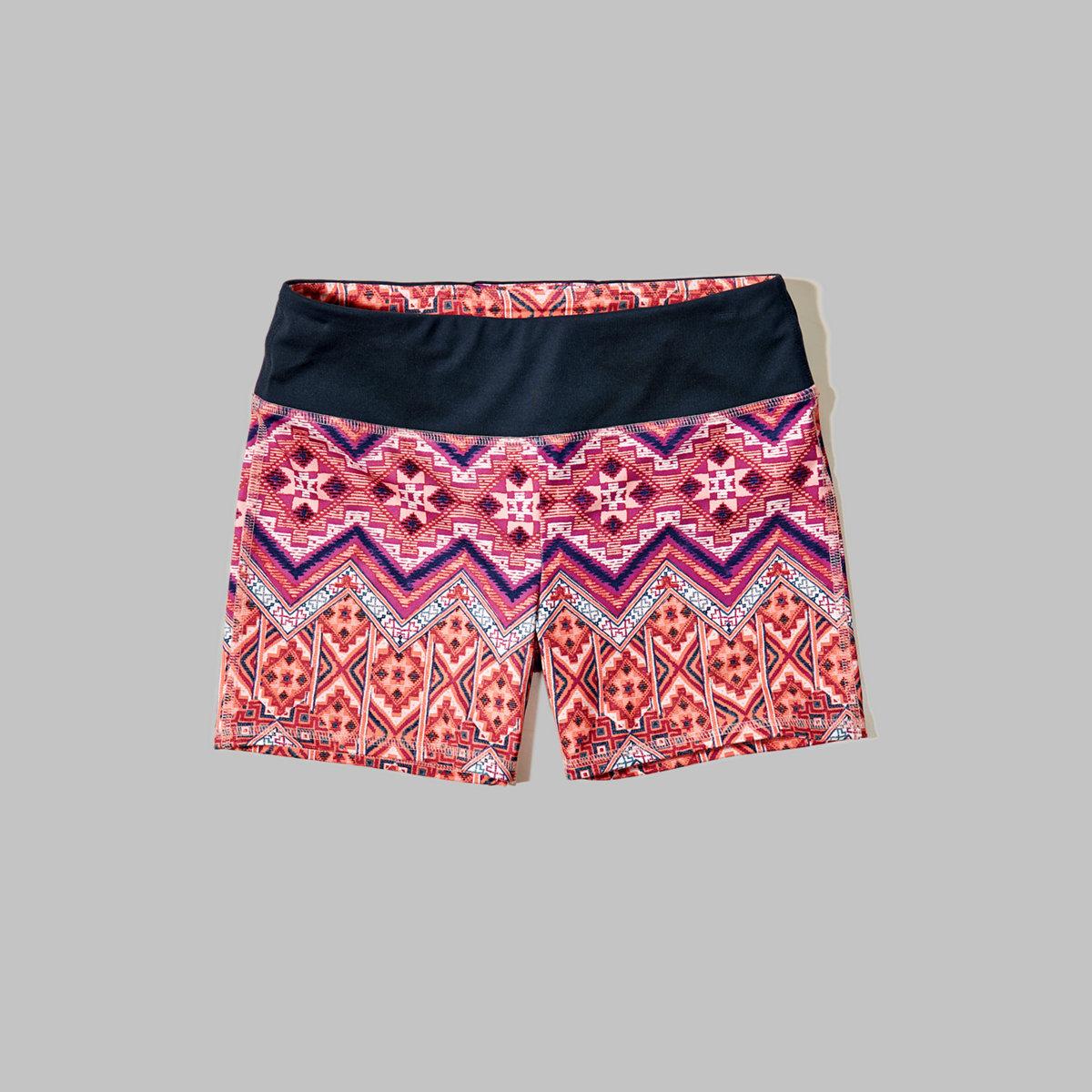 Contrast Bike Shorts