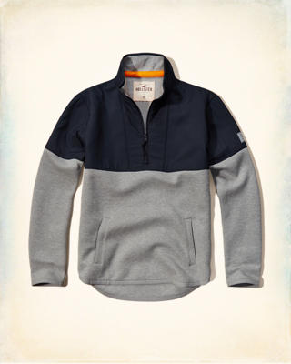 Colorblock Mockneck Sweatshirt