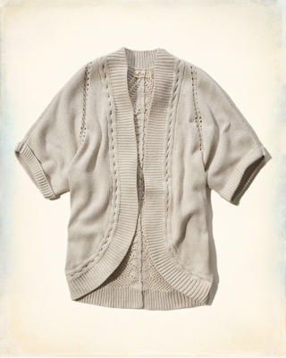 Short-Sleeve Cocoon Sweater