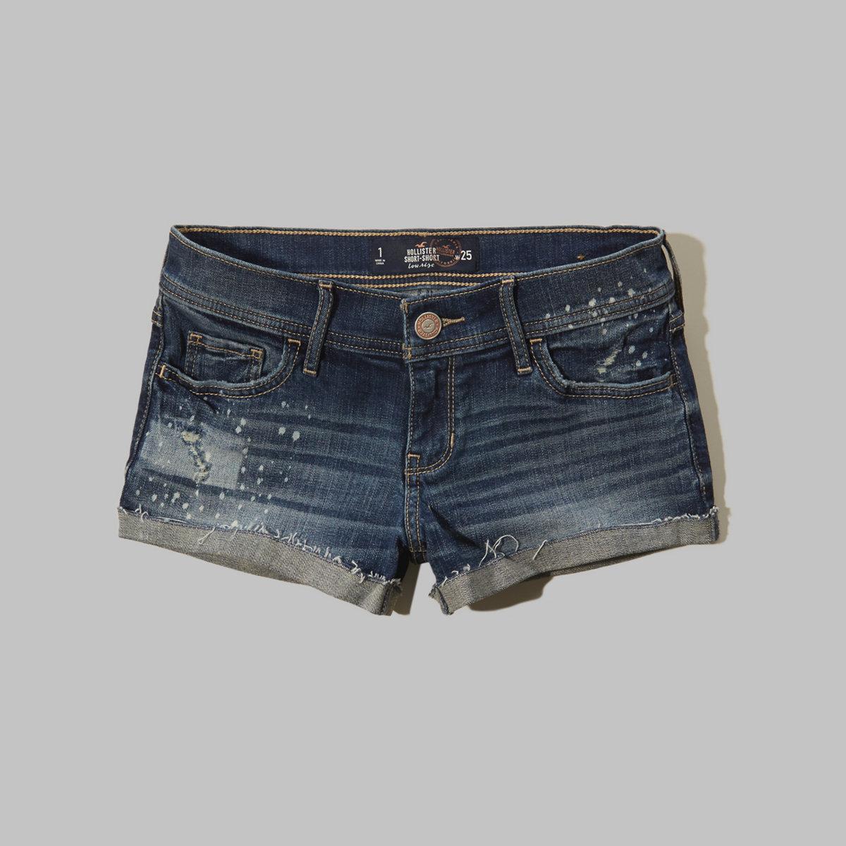 Hollister Low Rise Denim Short-Shorts