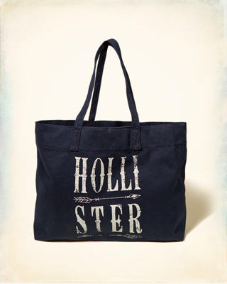 Logo Graphic Canvas Tote