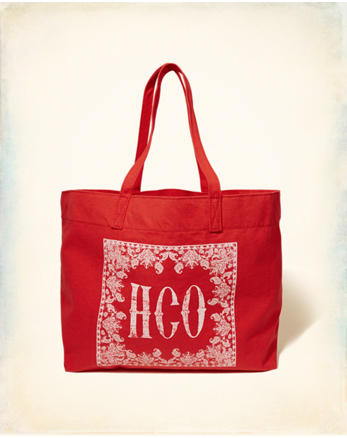 hol Logo Graphic Canvas Tote