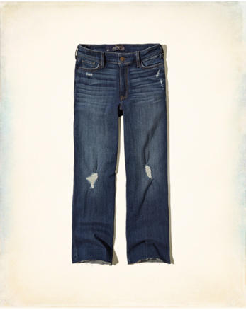 hol Hollister High Rise Straight Jeans