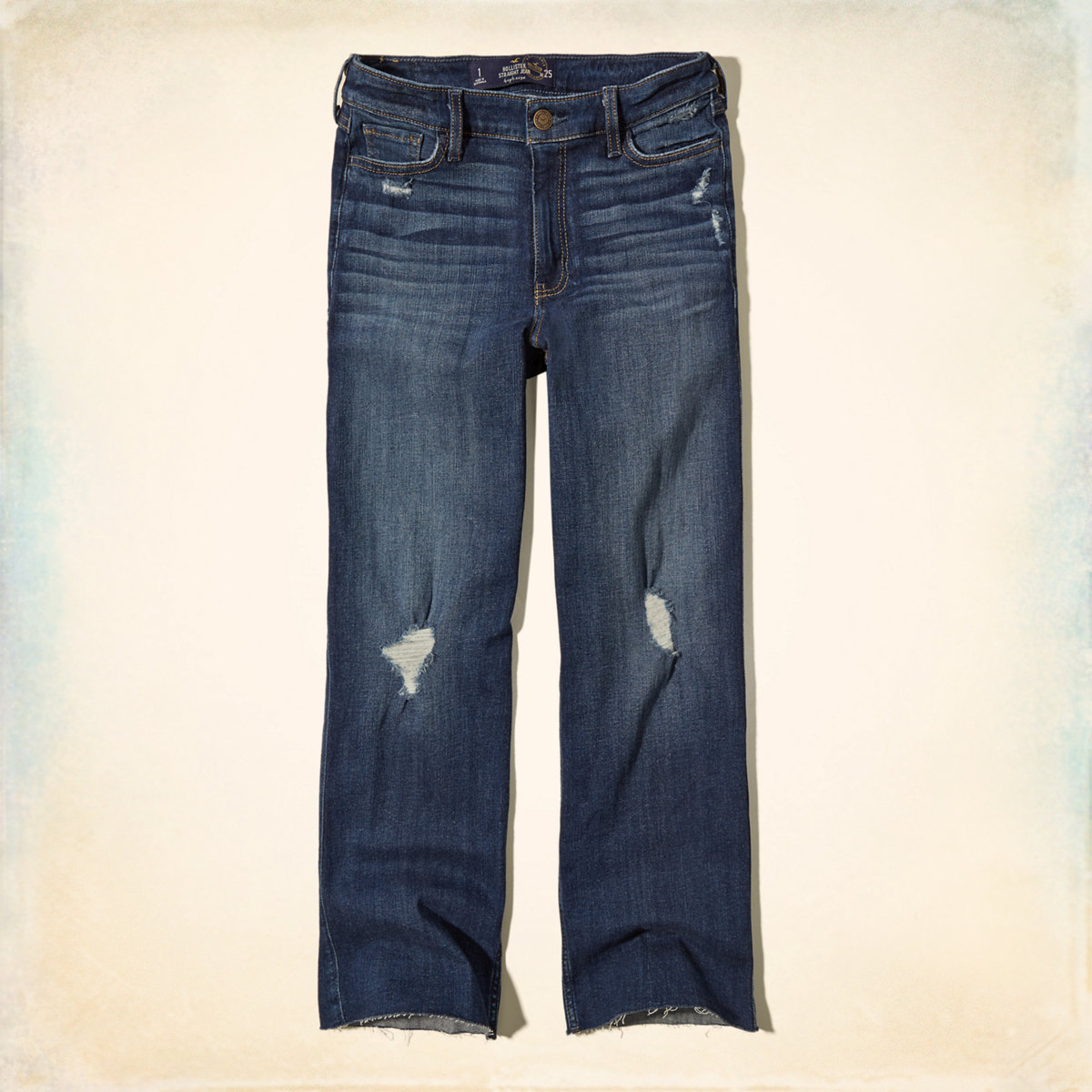 Hollister High Rise Straight Jeans