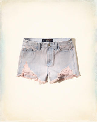 Hollister High Rise Denim Short-Shorts