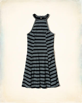 Must-Have High Neck Ribbed Dress