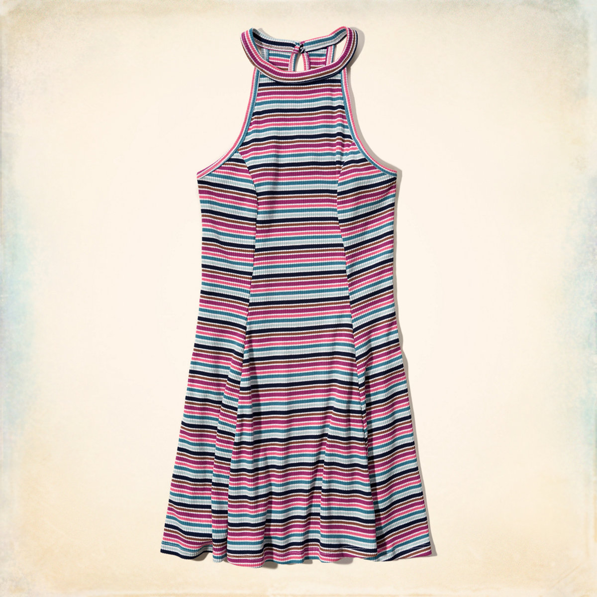 Must-Have High-Neck Ribbed Dress