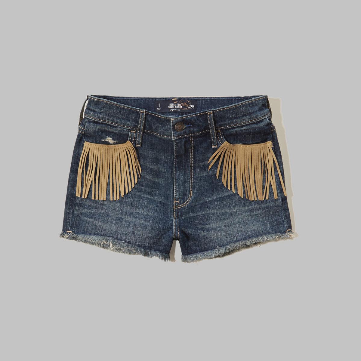 Hollister High Rise Denim Short-Shorts