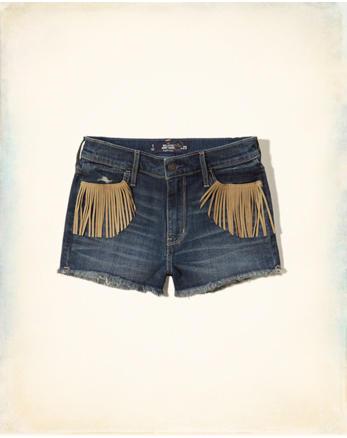 hol Hollister High Rise Denim Short-Shorts