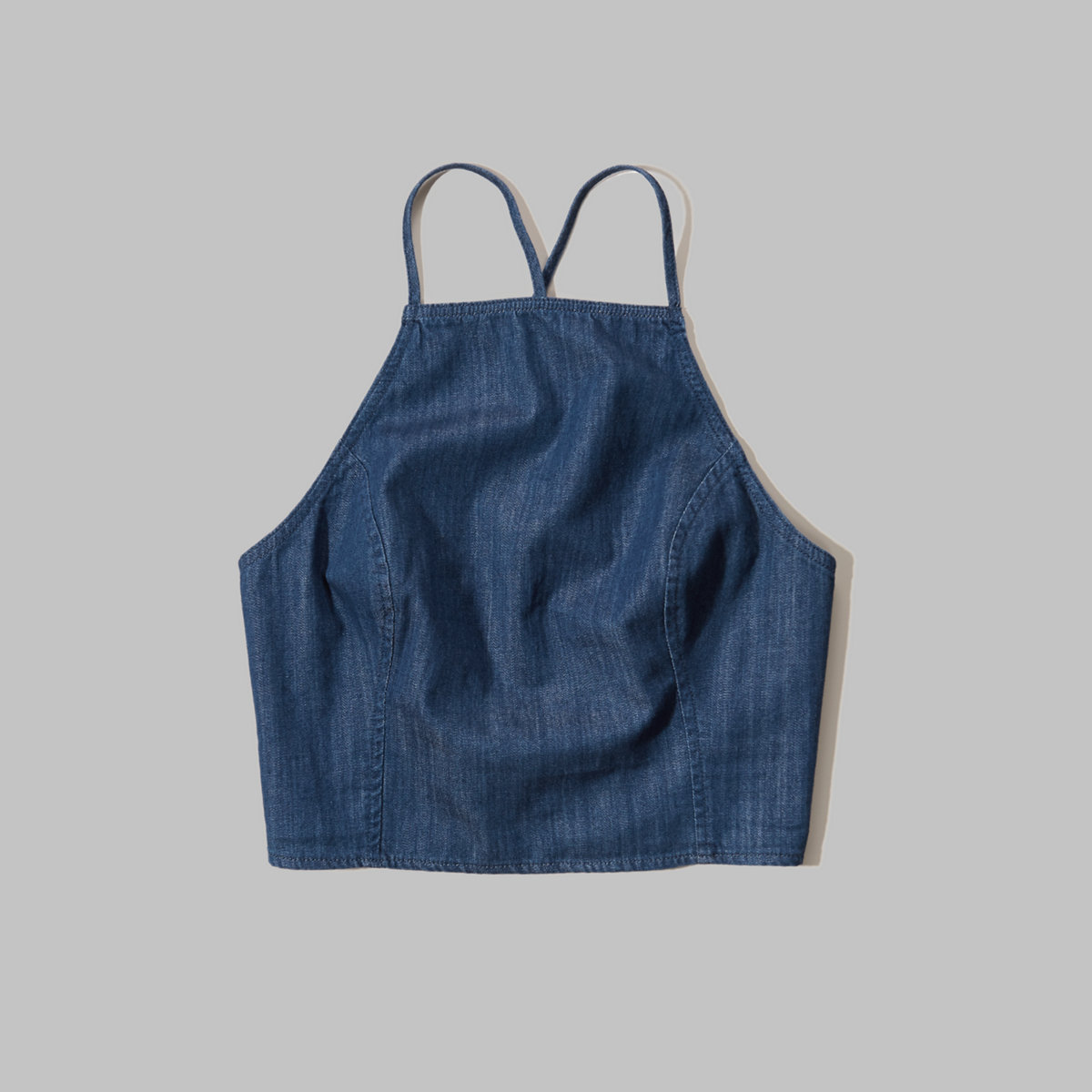 Chambray Cross-Back Top