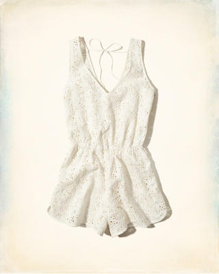 Lace Swim Cover-Up Romper