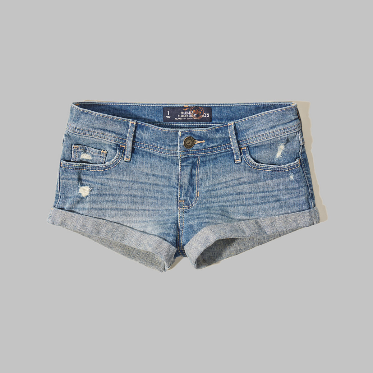 Hollister Super Low Rise Slouchy Shorts