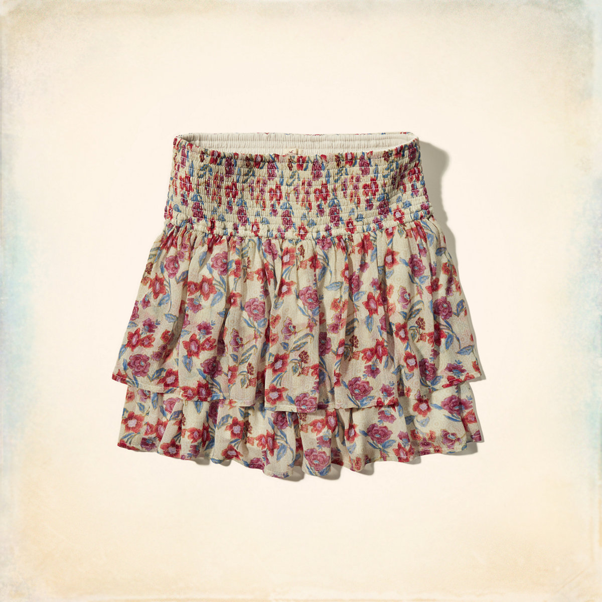 Tiered Smocked-Waist Skirt