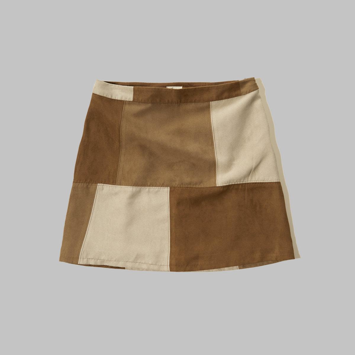 Patchwork A-Line Skirt