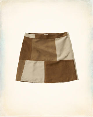 Patchwork A-Line Skirt