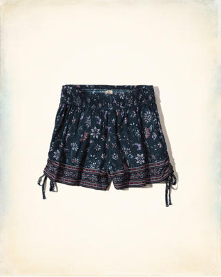 Drapey Side-Tie Shorts