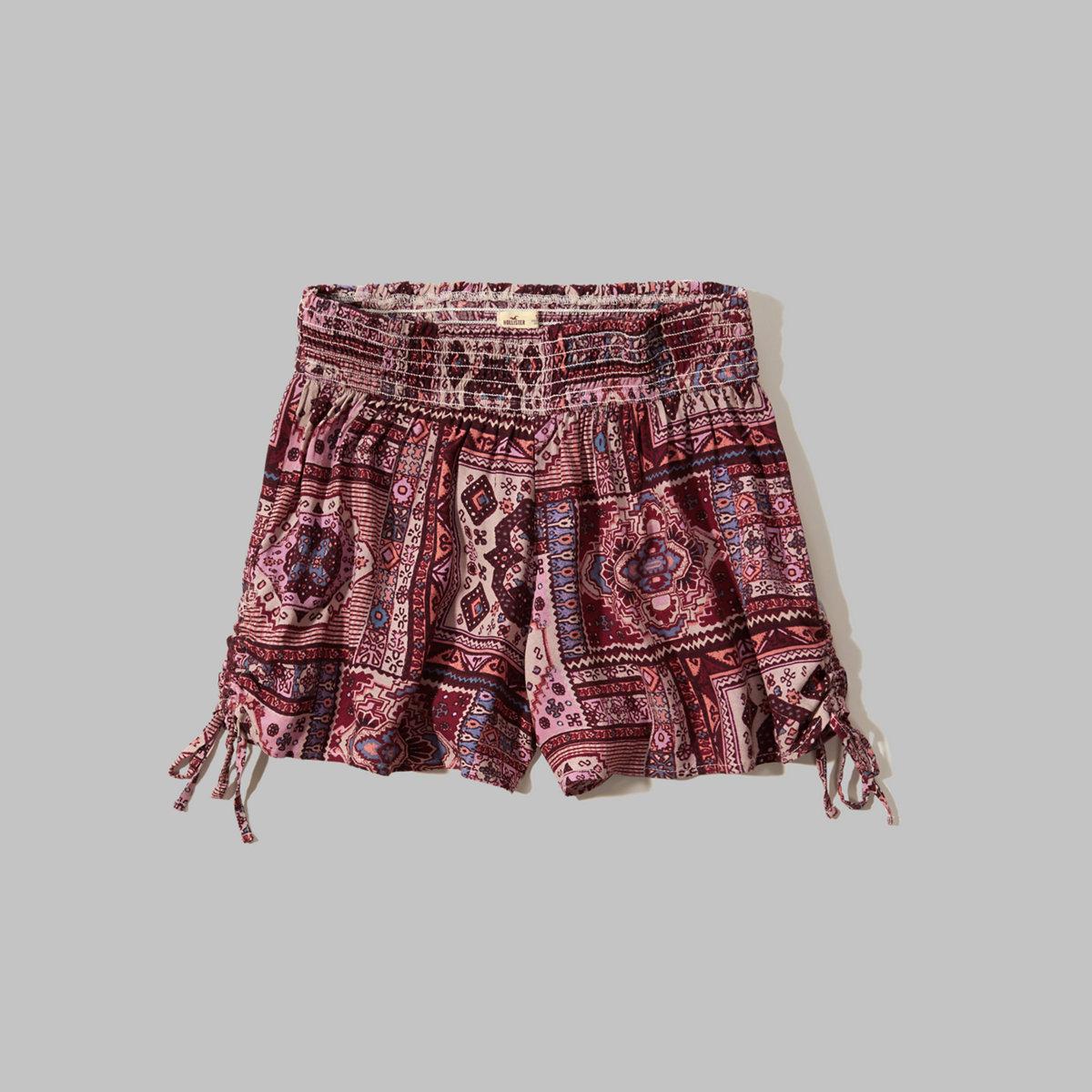 Drapey Side-Tie Shorts