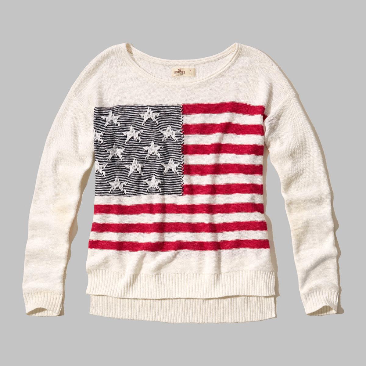 Flag-Pattern Easy Pullover