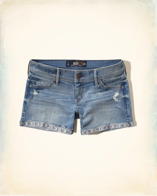 Hollister Denim Midi Shorts