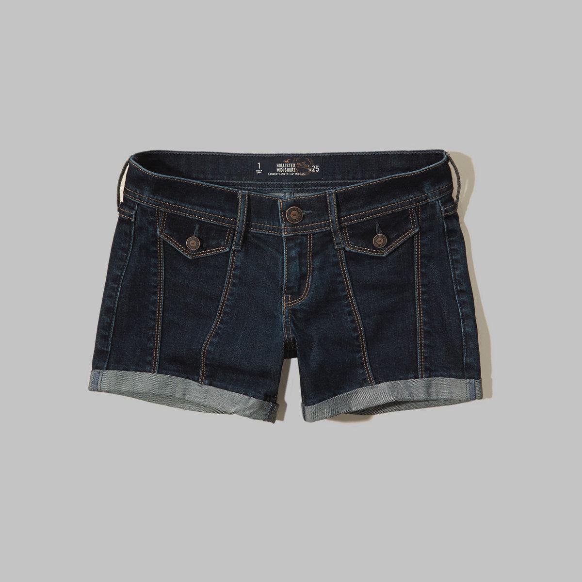 Hollister Denim Midi Shorts