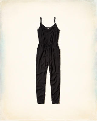 Ruched V-Neck Jumpsuit