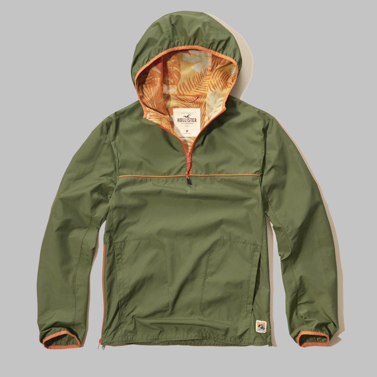 Hooded Nylon Anorak