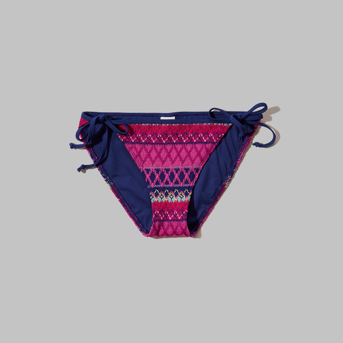 Textured Pattern Bikini Bottom