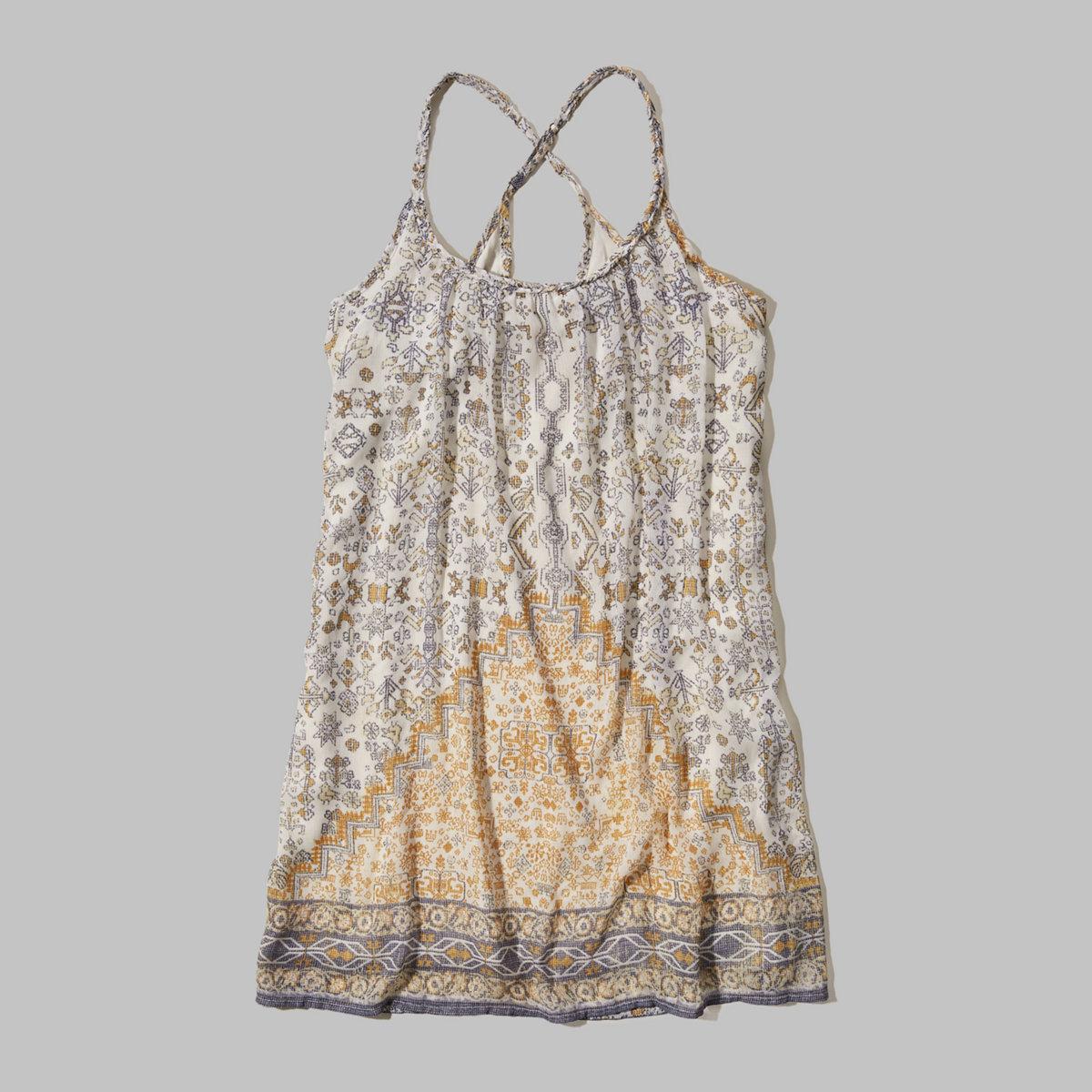 Chiffon Cross-Back Dress