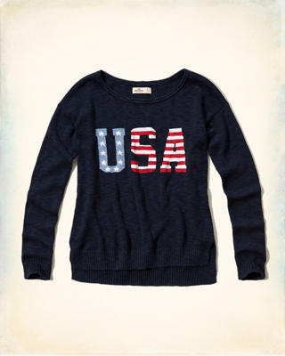 Flag-Pattern Easy Pullover