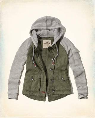 Twill Twofer Jacket