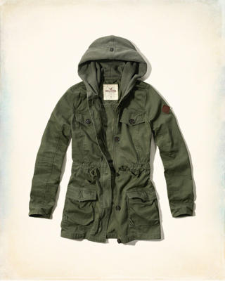 Hooded Twill Parka
