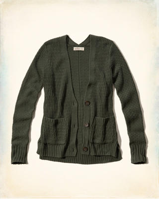 Textured Boyfriend Cardigan