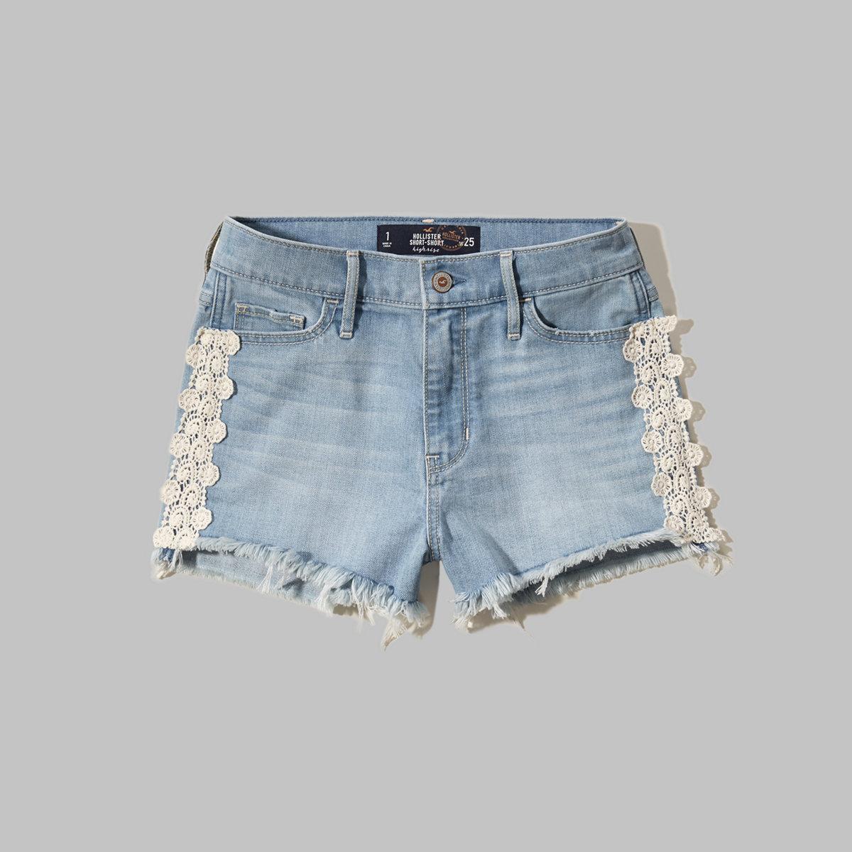 High Rise Denim Short-Shorts